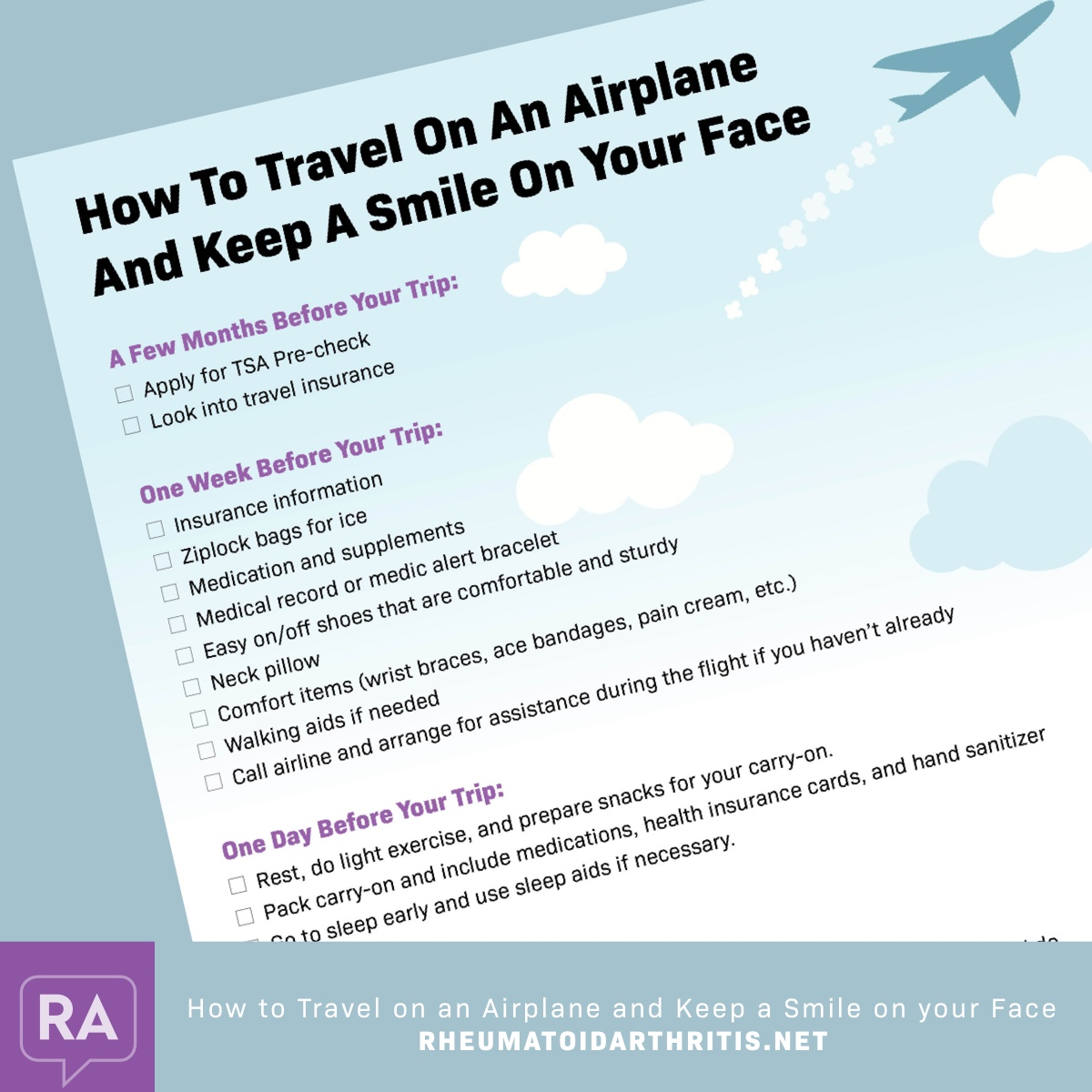 how to travel on an airplane and keep a smile on your face