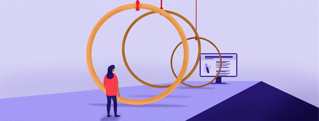 a woman has to jump through hoops to get to the clinical trial